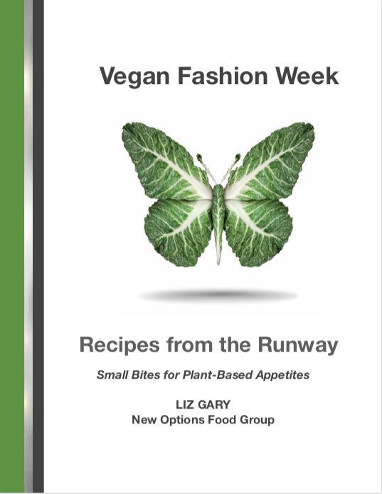 Cover design of Vegan Fashion Week cookbook